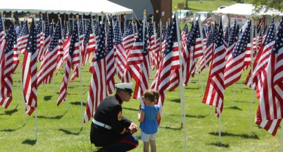 Marine & Little Girl - Field of Honor - Idaho Falls